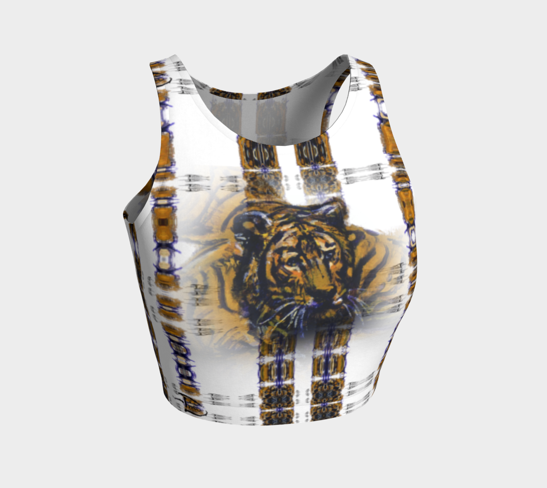 Aperçu de Smoked-Tiger-Head Crop Top