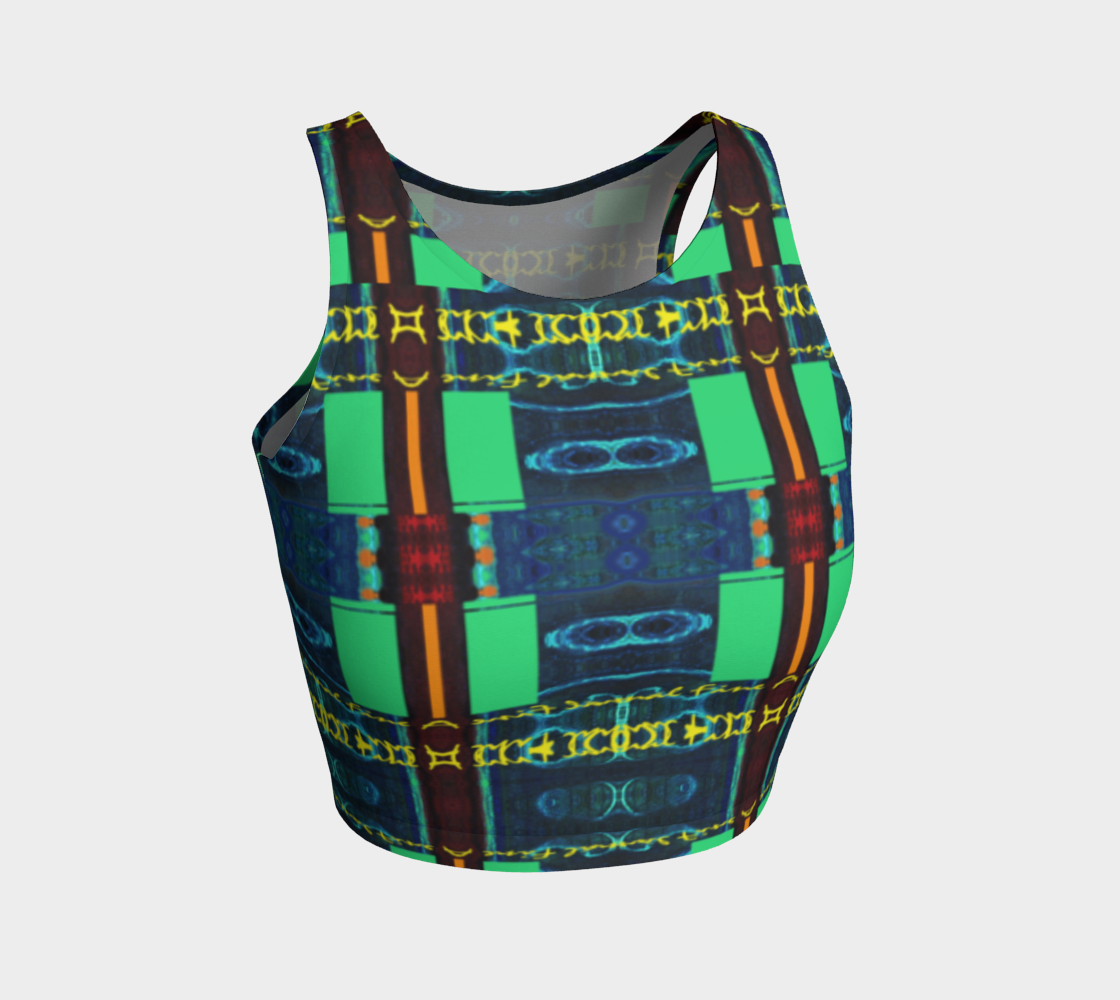 I..F.A. Flag / Crop Top with Psuedo-Suspenders preview