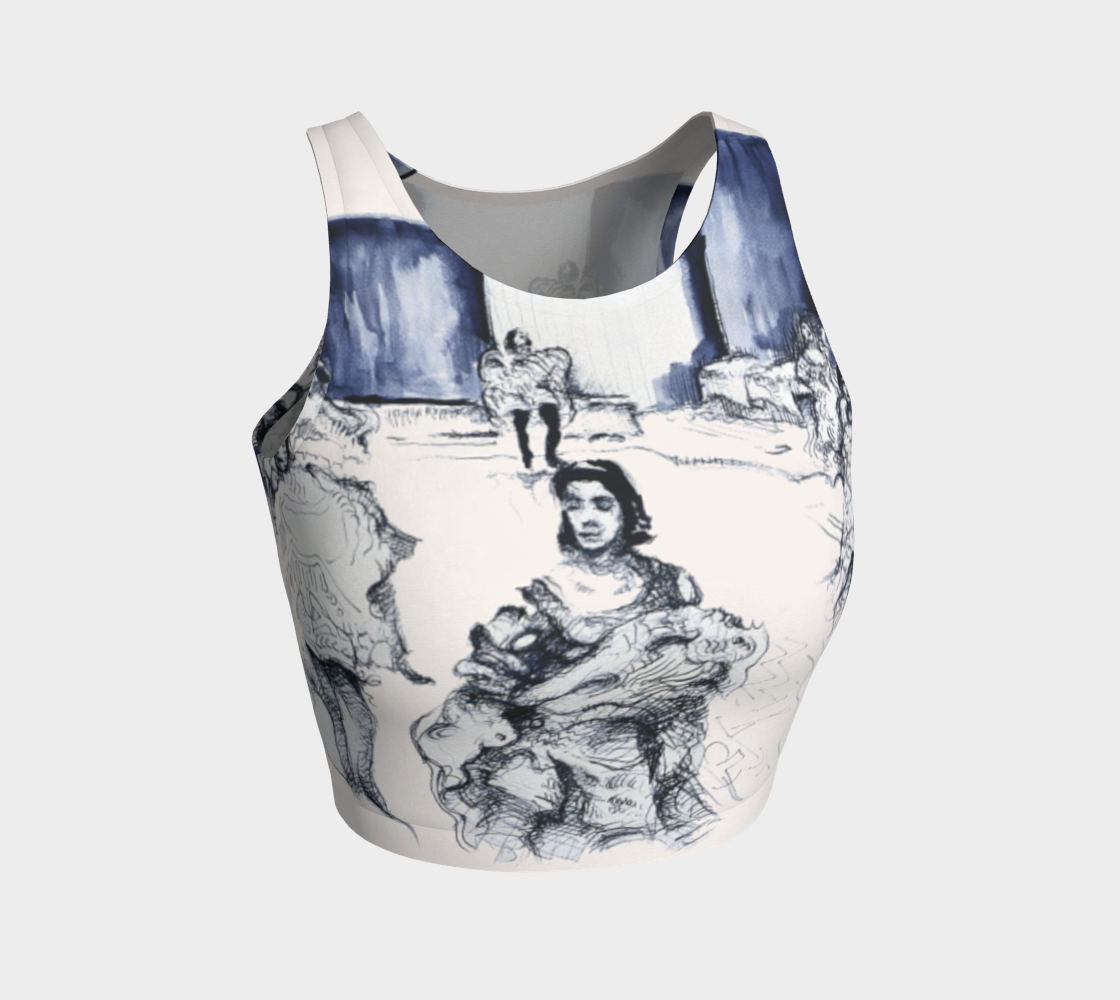 Place Blanche Can-Can Crop Top preview