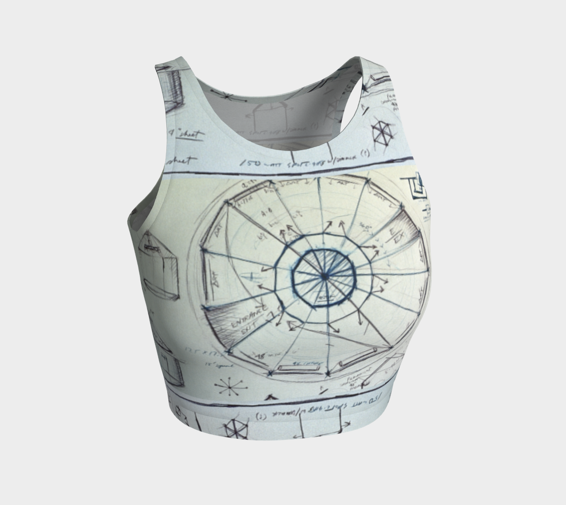 Devin Tour Chamber Schematic-Drawing Crop Top preview