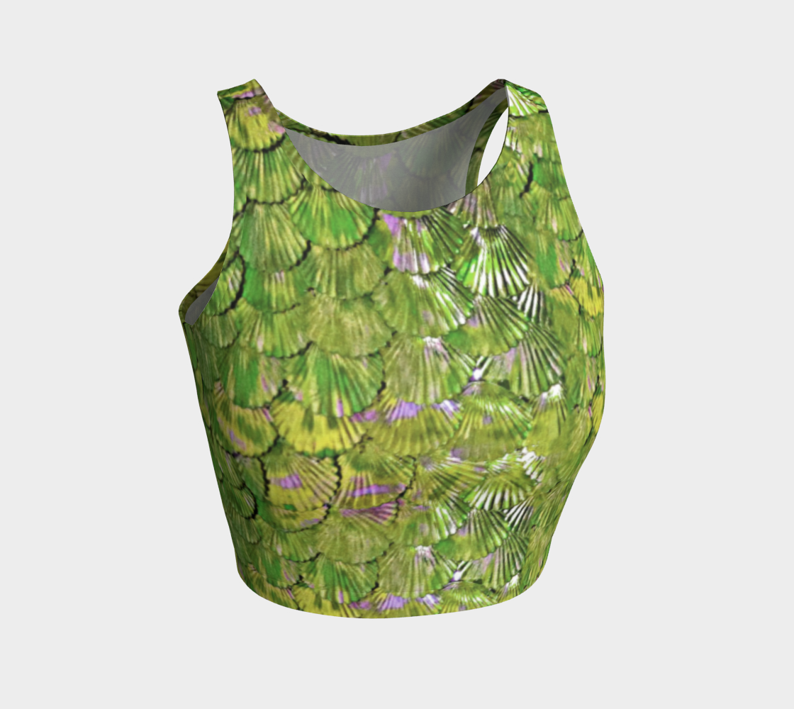 Citrus Green Mermaid Crop Top preview