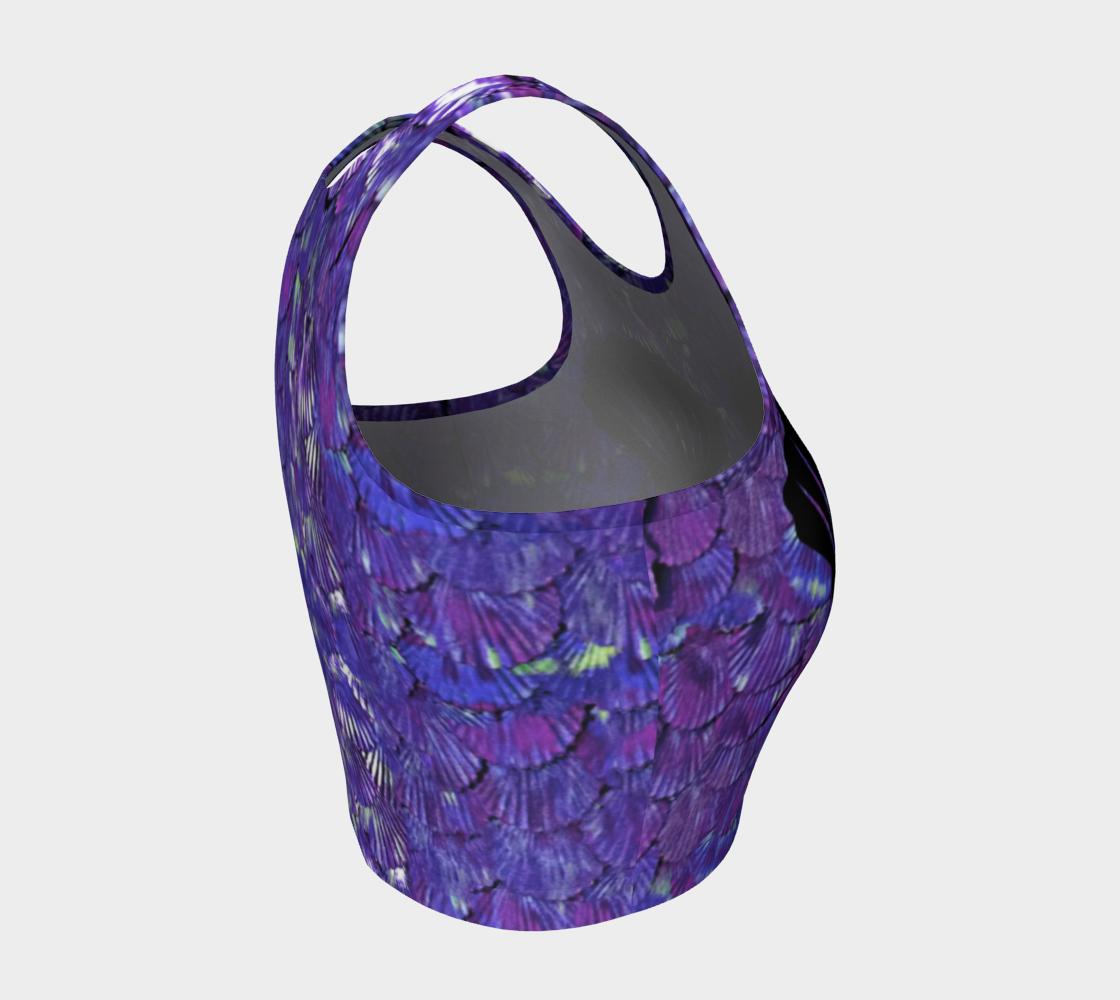 Purple Mermaid Scale Crop Top Shells preview #4