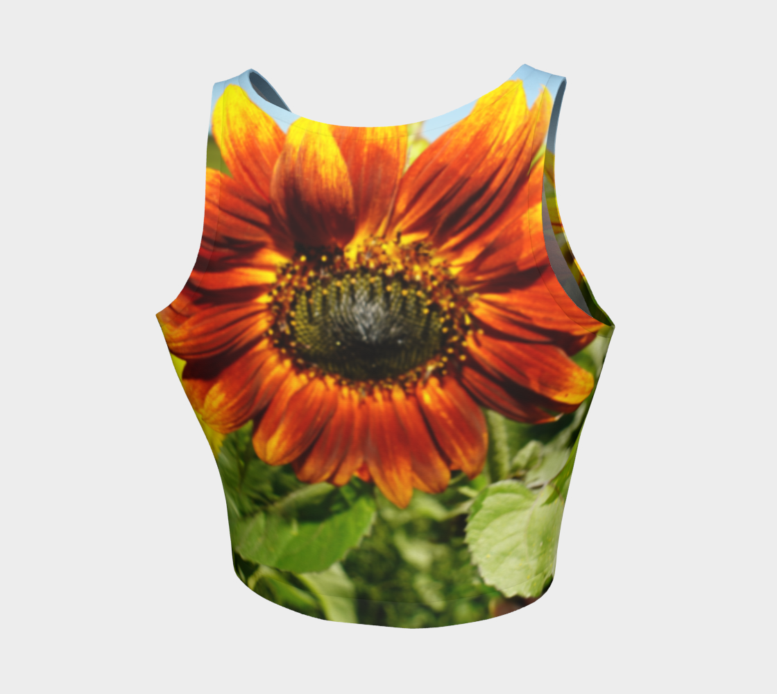 Large Sunflower Crop Top preview #2