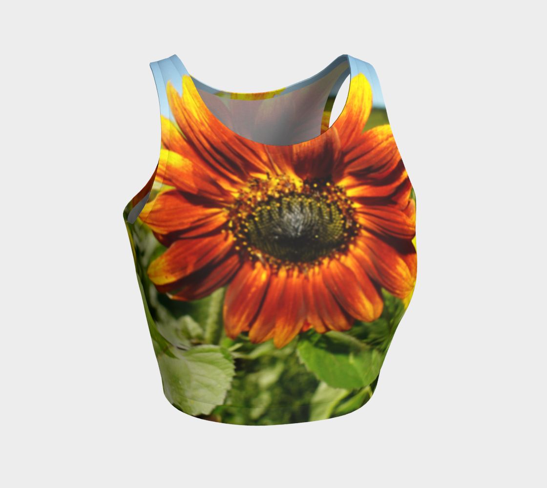 Large Sunflower Crop Top preview #1