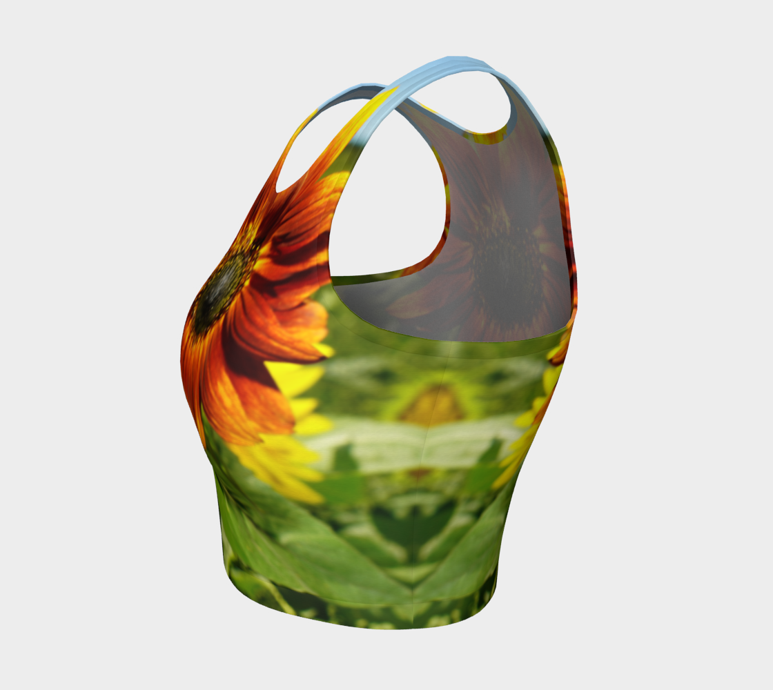 Large Sunflower Crop Top preview #3
