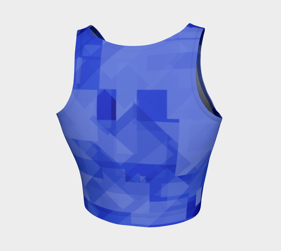 Blue is Better Athletic Crop Top preview #2