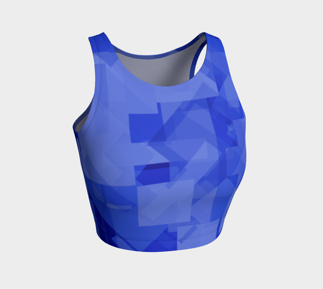 Blue is Better Athletic Crop Top preview