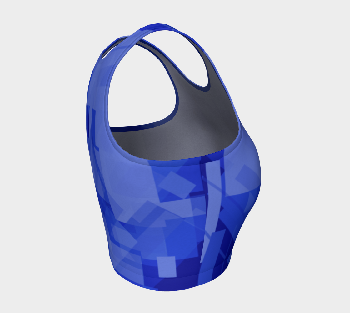 Blue is Better Athletic Crop Top preview #4
