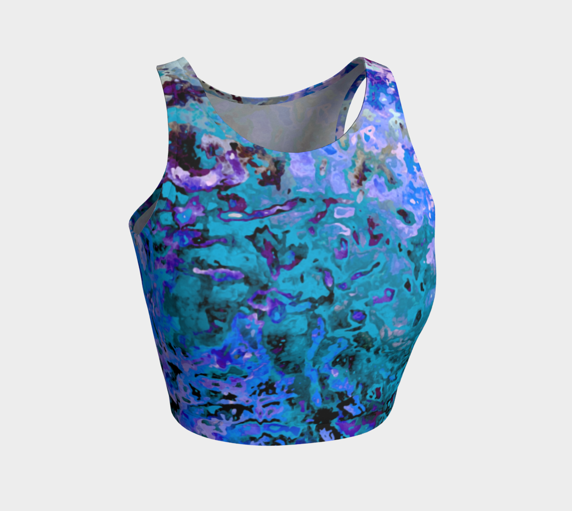 Funky Swirly Marbled Blue Abstract preview