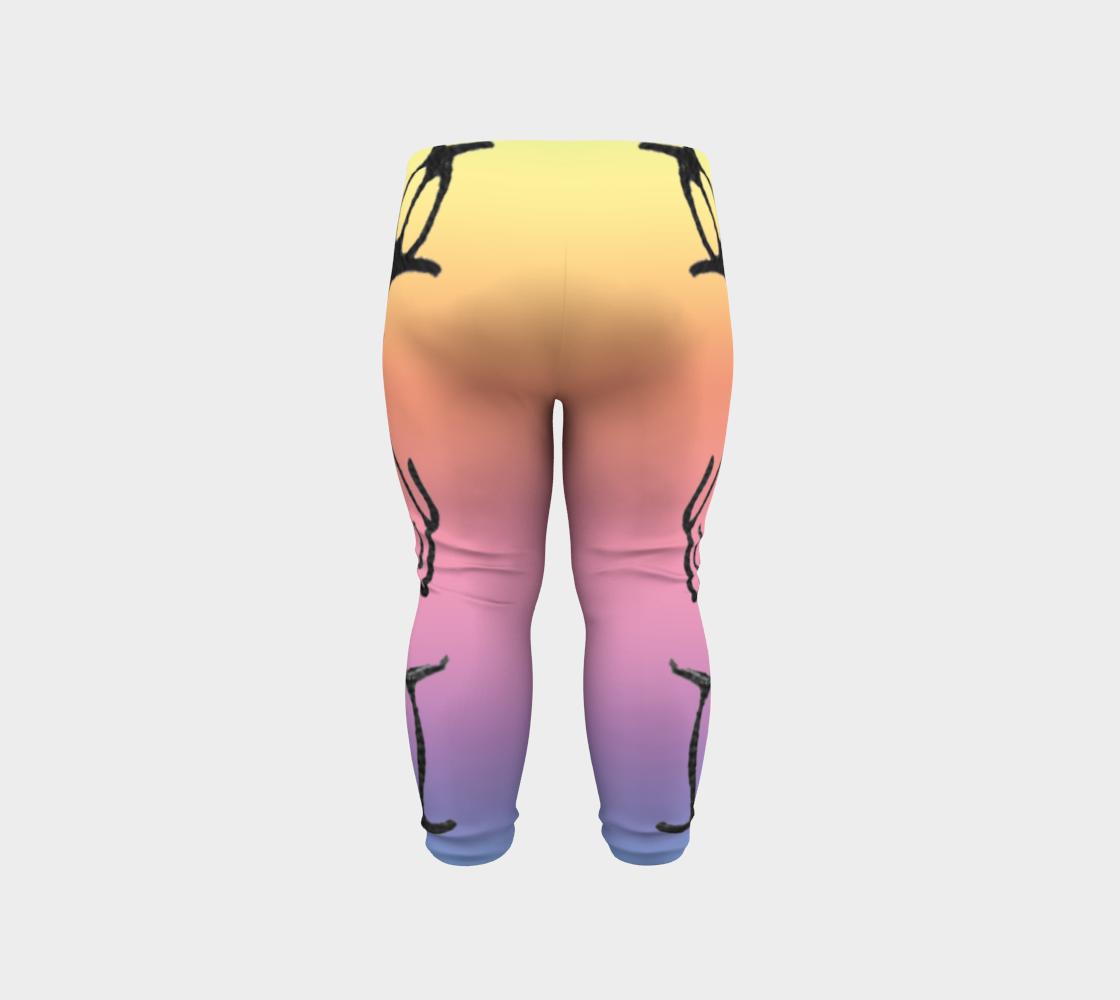Rainbow Whale Petroglyphs Baby Leggings preview #6