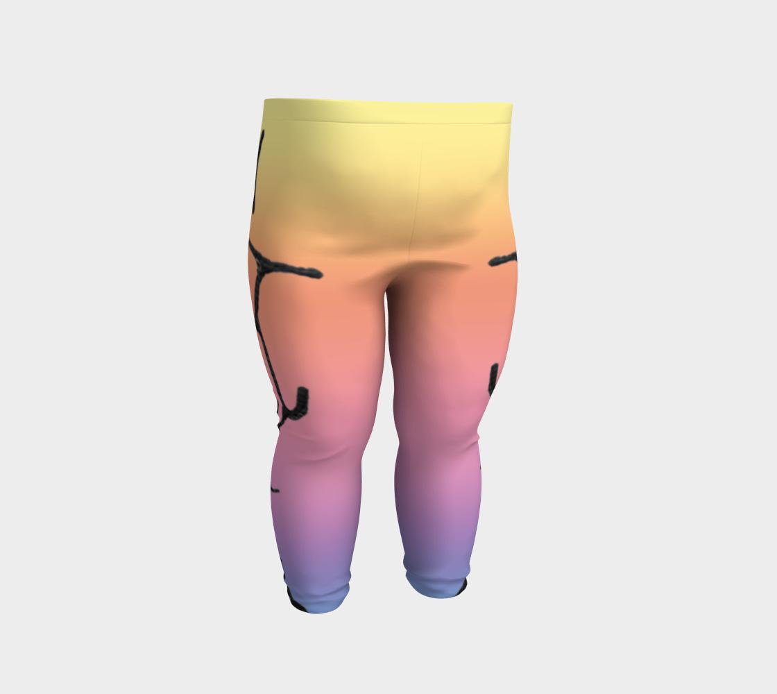 Rainbow Whale Petroglyphs Baby Leggings preview #2