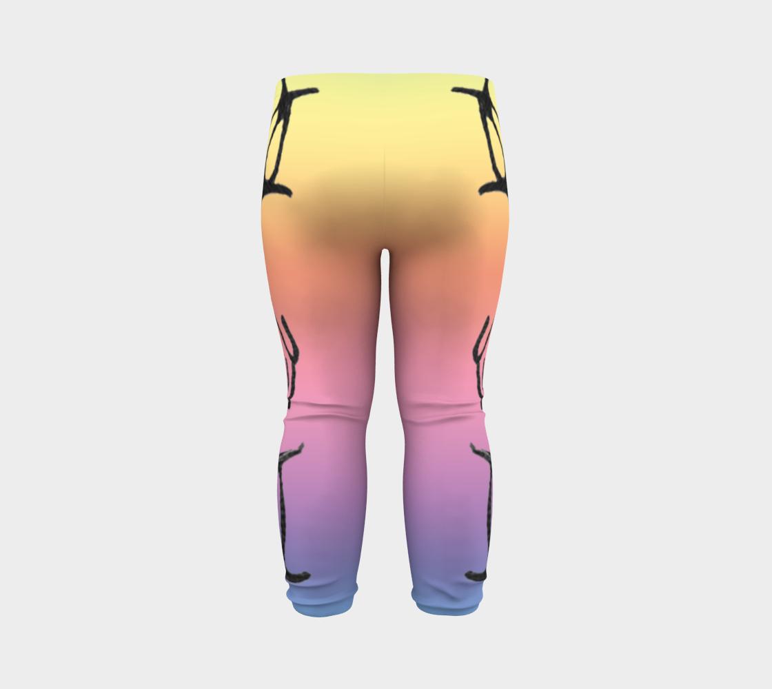 Rainbow Whale Petroglyphs Baby Leggings preview #7