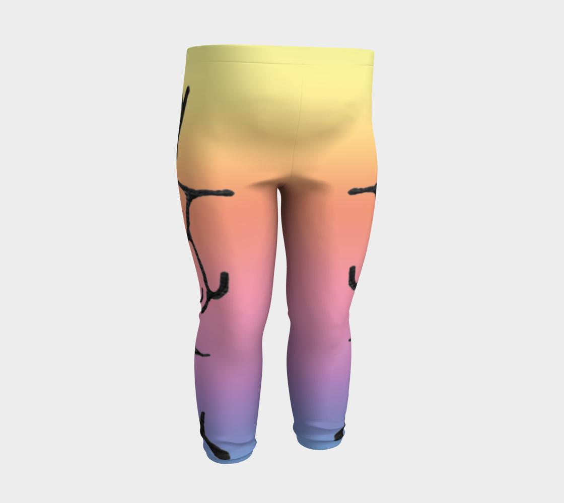 Rainbow Whale Petroglyphs Baby Leggings preview #3