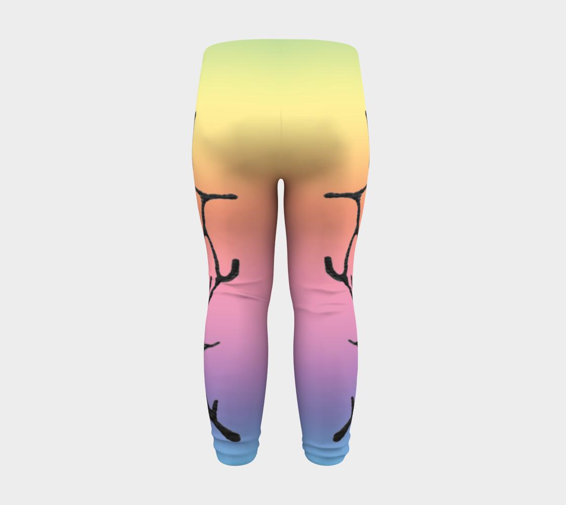Rainbow Whale Petroglyphs Baby Leggings preview #8