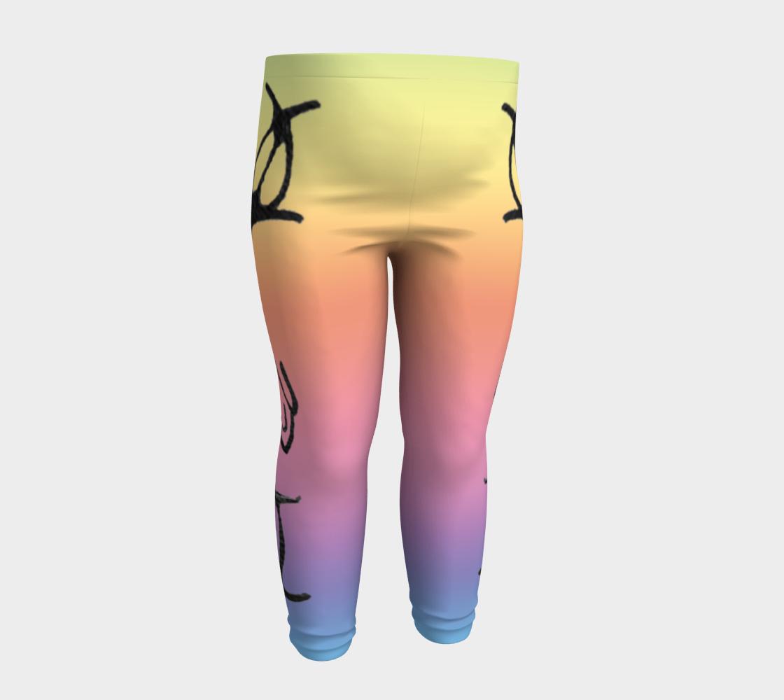Rainbow Whale Petroglyphs Baby Leggings preview #4
