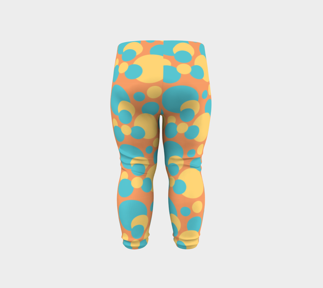 Retro Baby Leggings in Blue and Yellow preview #6