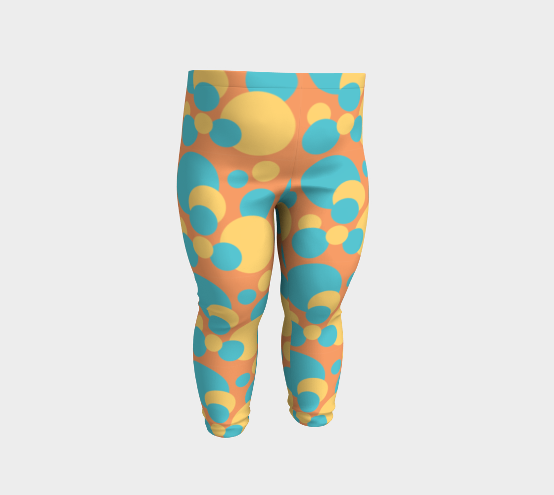 Retro Baby Leggings in Blue and Yellow preview #2