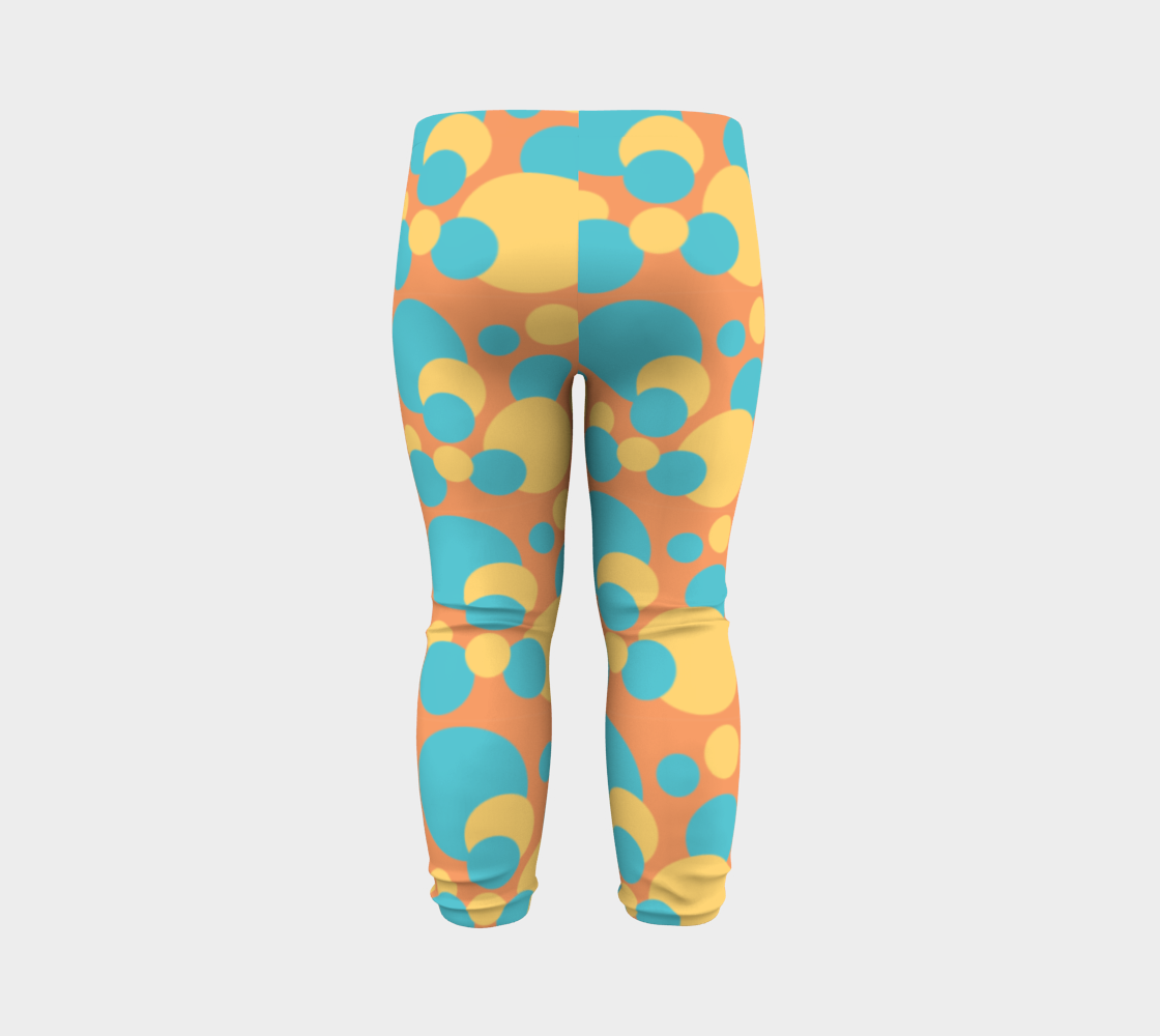 Retro Baby Leggings in Blue and Yellow preview #7