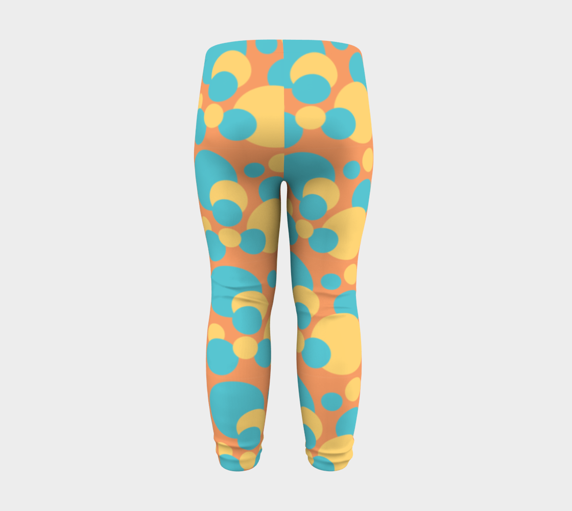 Retro Baby Leggings in Blue and Yellow preview #8