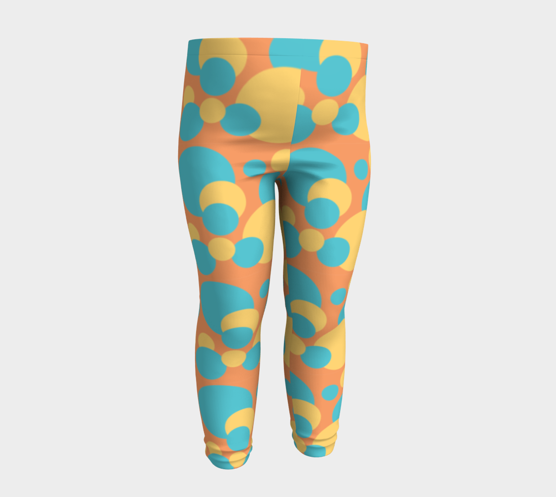 Retro Baby Leggings in Blue and Yellow preview #4