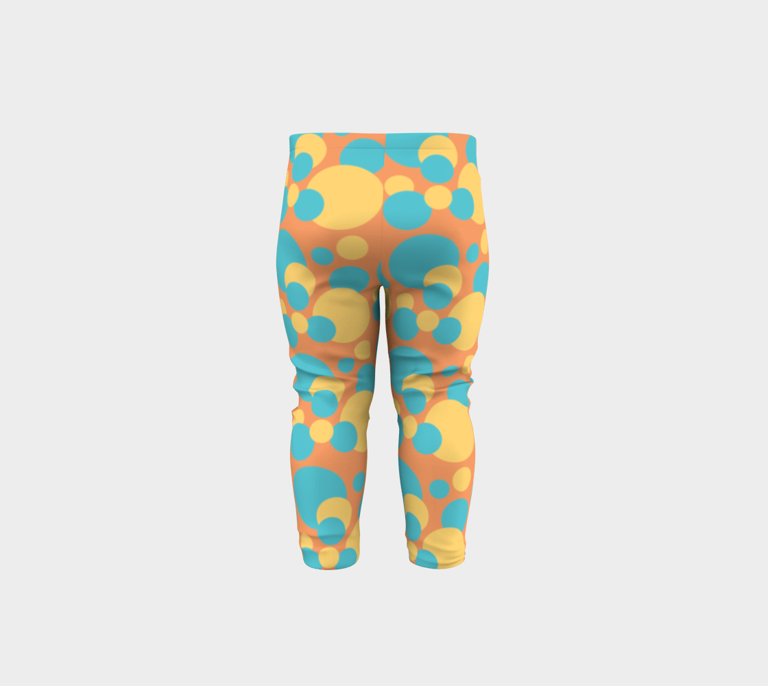 Retro Baby Leggings in Blue and Yellow preview #5