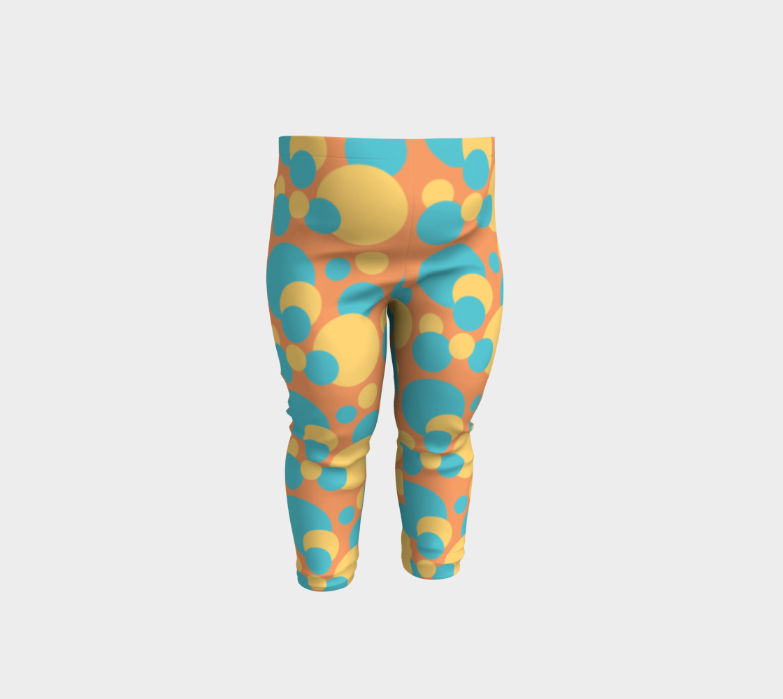 Retro Baby Leggings in Blue and Yellow preview
