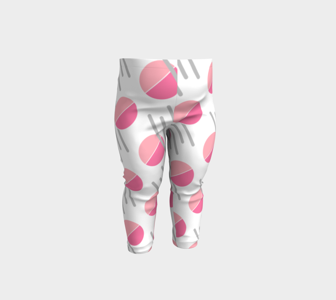Modern Pink Circle Grey Line Abstract Baby Leggings preview
