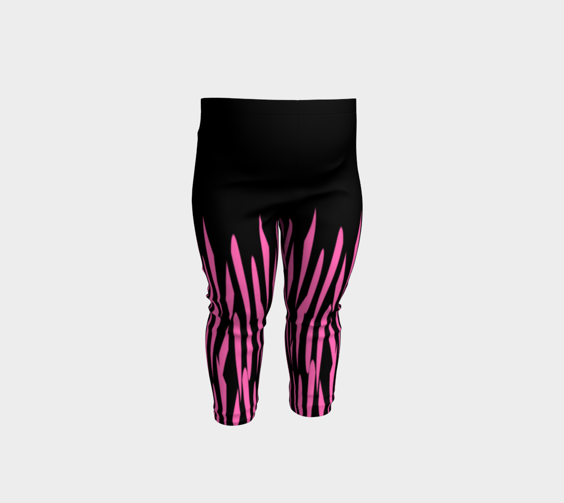 Pink and Black Ice Abstract Baby Leggings preview