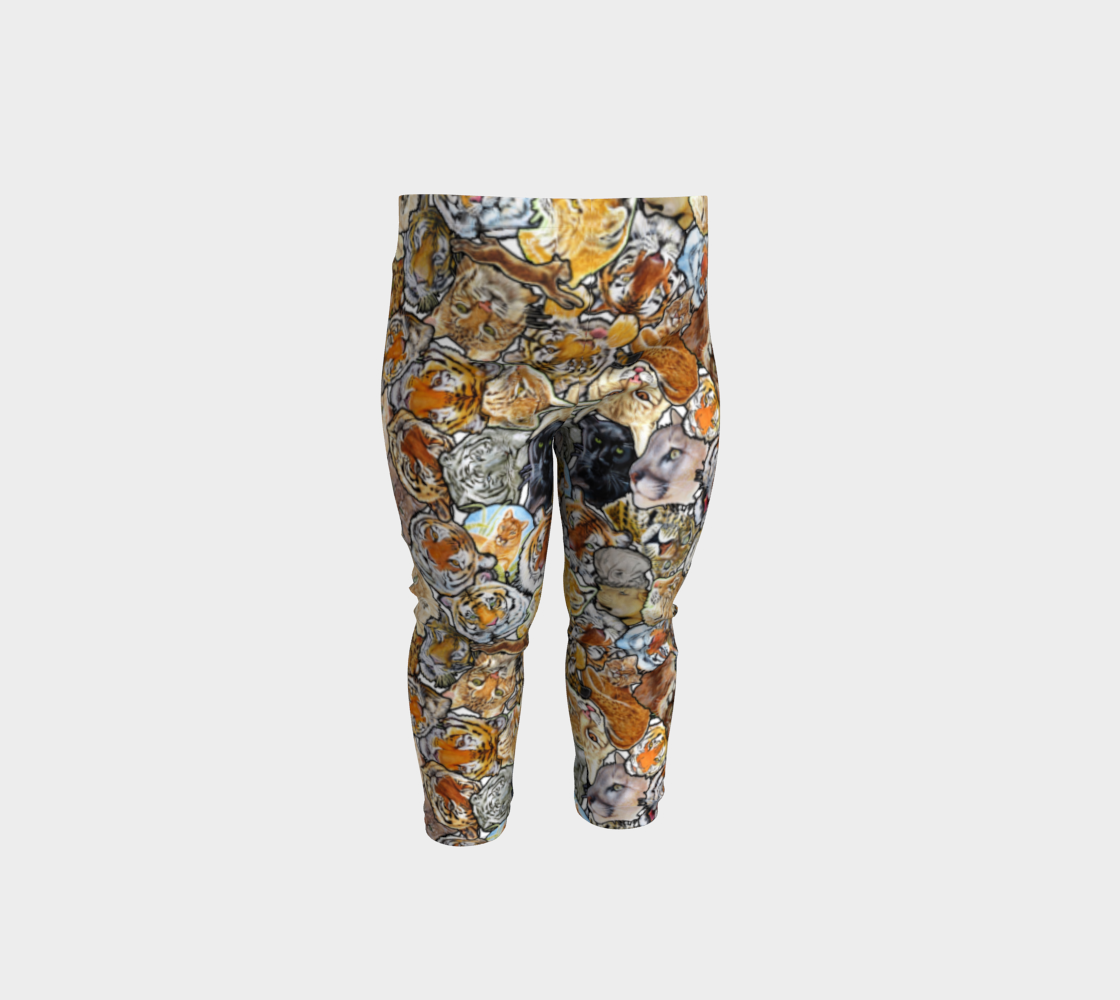 Big Cat Collage - baby leggings preview