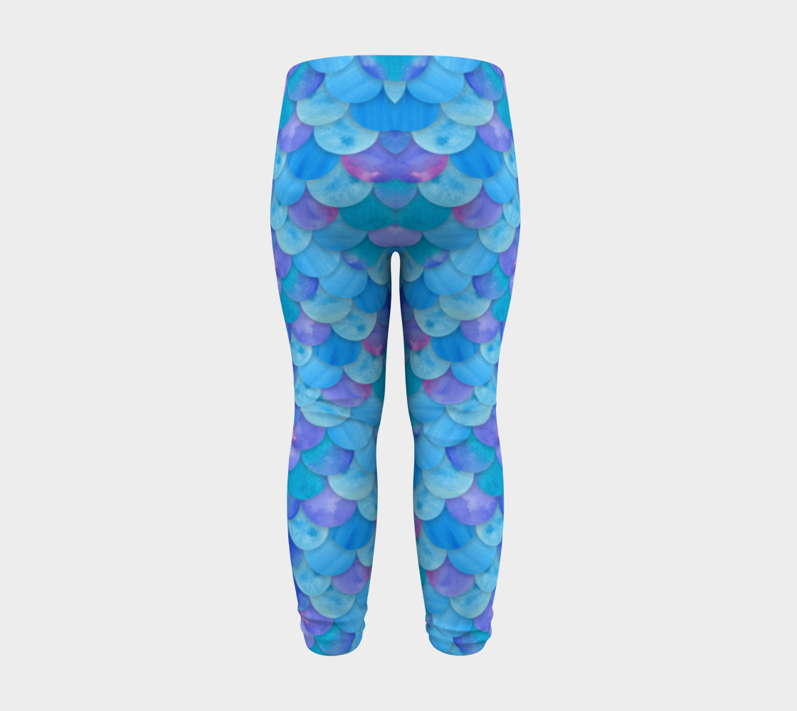 Blue Mermaid Baby Legging preview #8