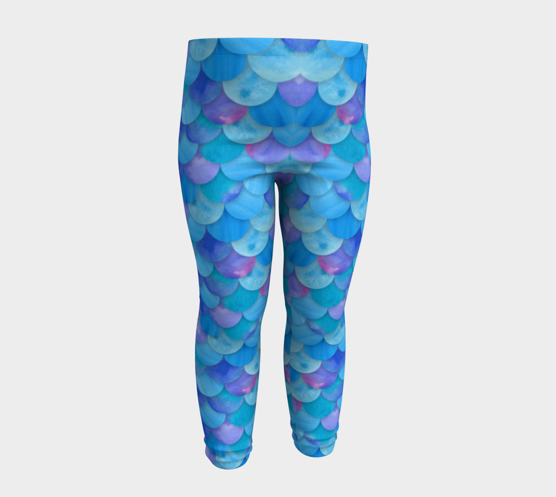 Blue Mermaid Baby Legging preview #4