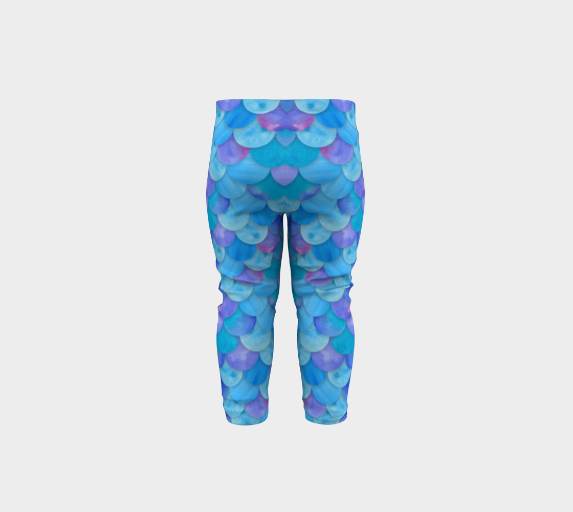Blue Mermaid Baby Legging preview #5
