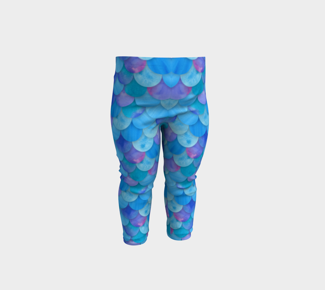 Blue Mermaid Baby Legging 3D preview