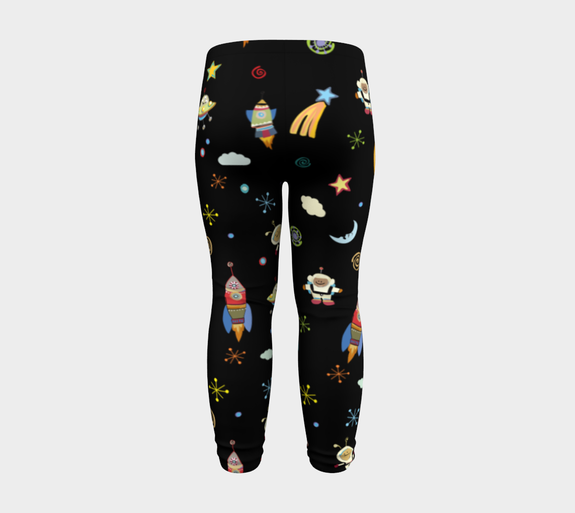 Spaced Out Kids Leggings preview #8