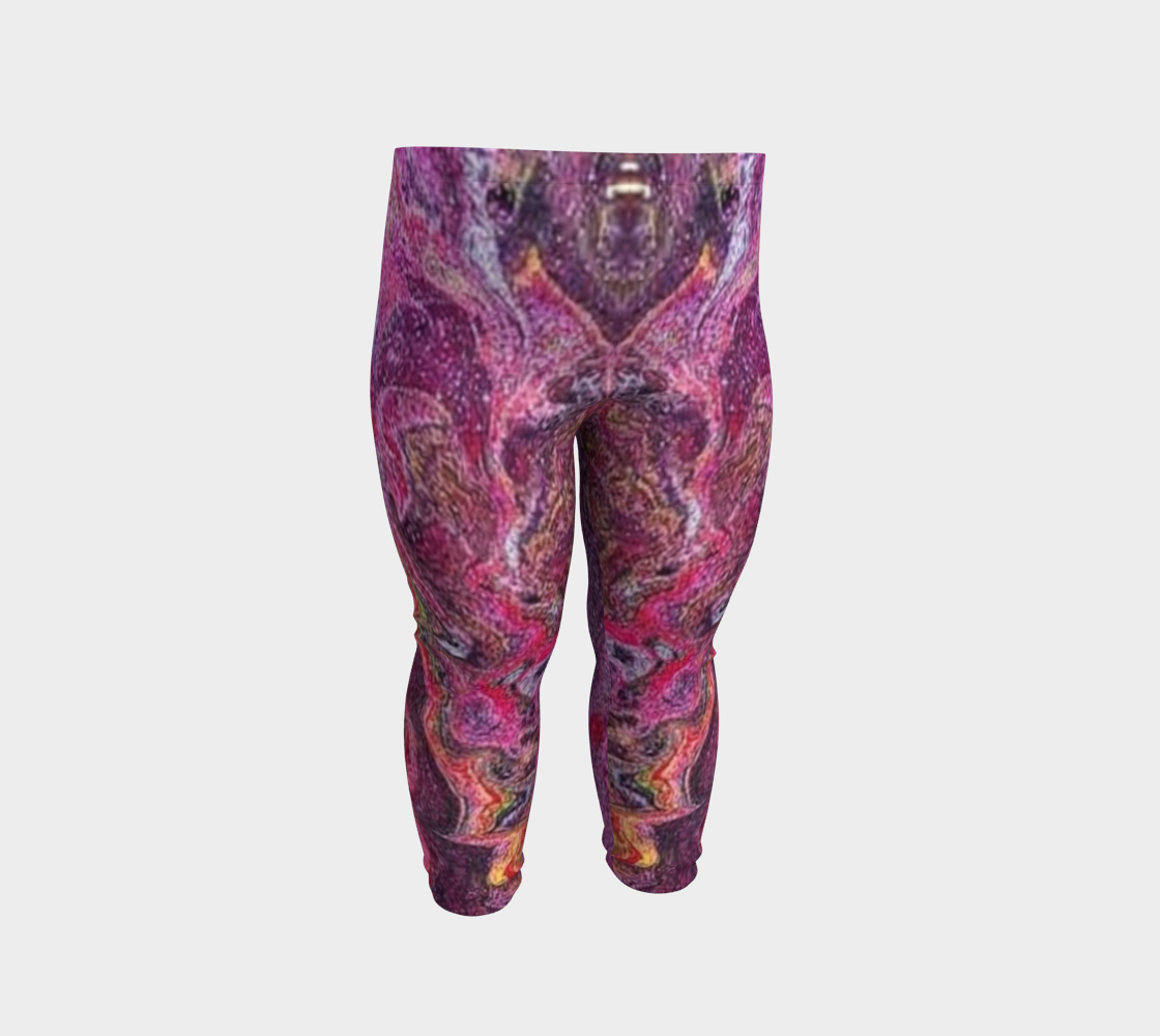 pink glitter baby leggings preview #2