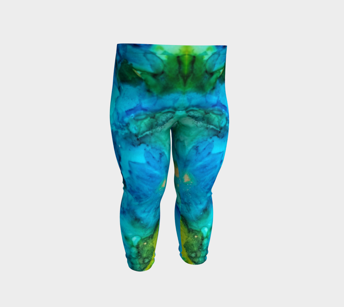blue daisy baby leggings preview #2