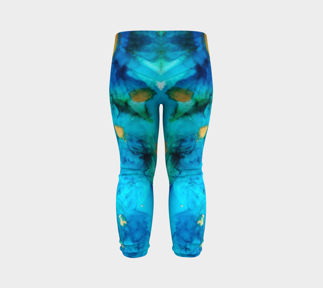 blue daisy baby leggings preview #7