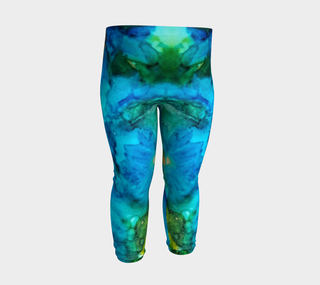blue daisy baby leggings preview #3