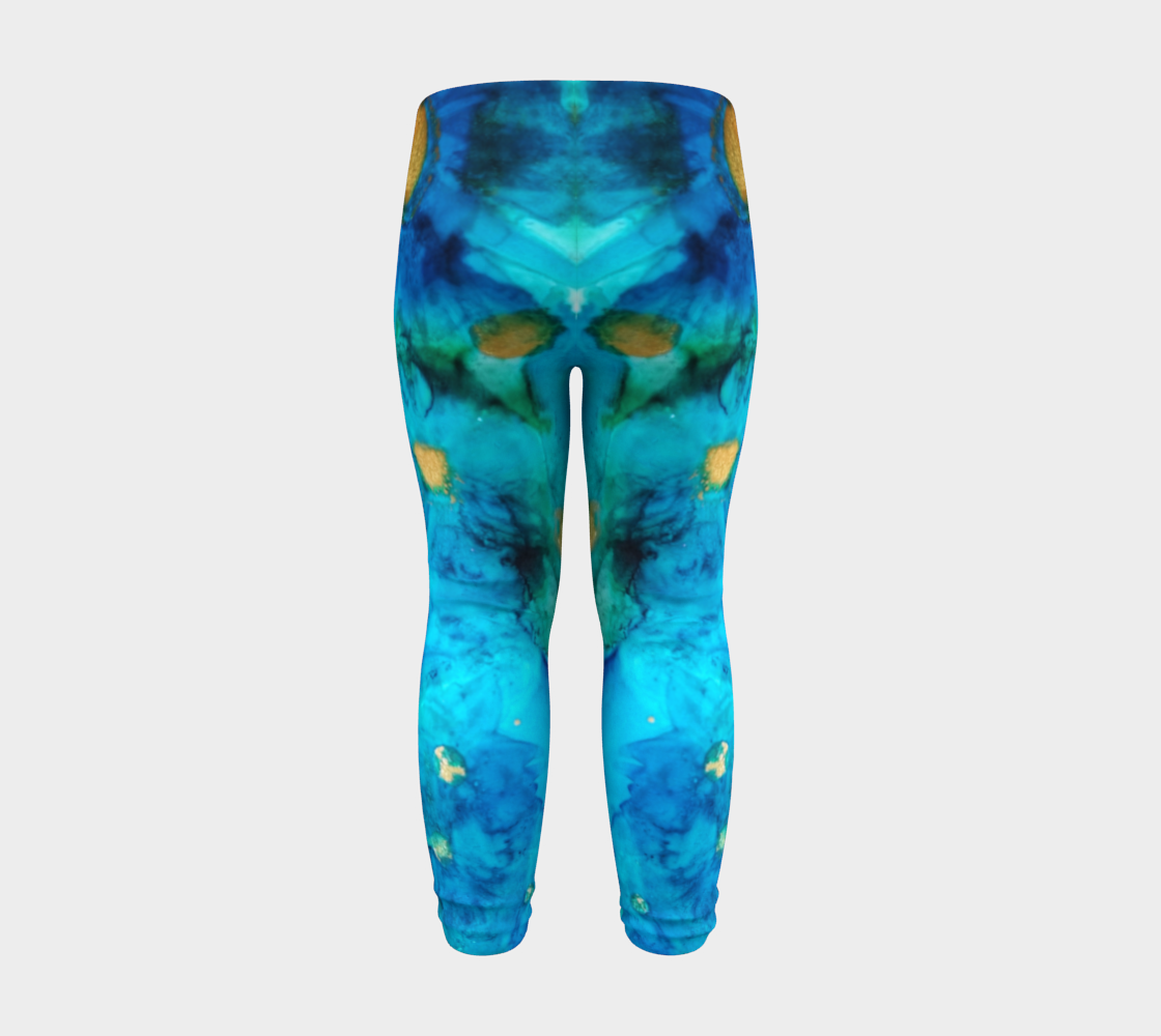 blue daisy baby leggings preview #8