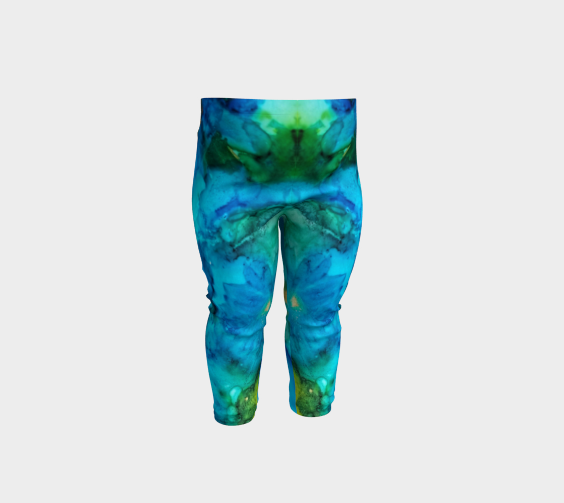 blue daisy baby leggings preview #1