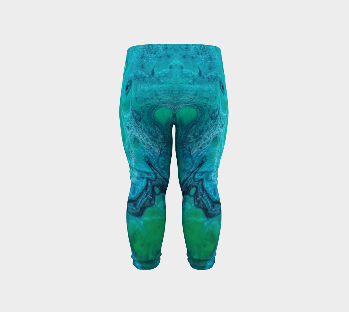 turquoise flow baby leggings preview #6
