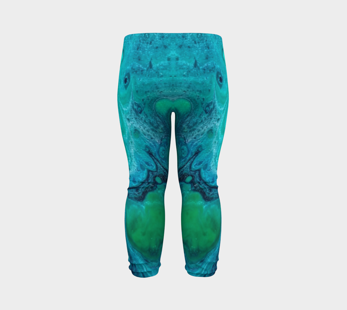 turquoise flow baby leggings preview #7