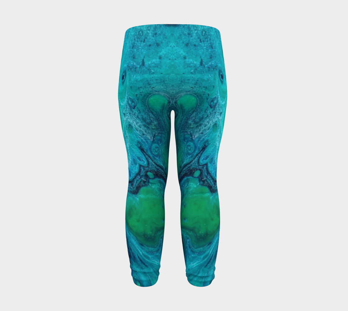 turquoise flow baby leggings preview #8