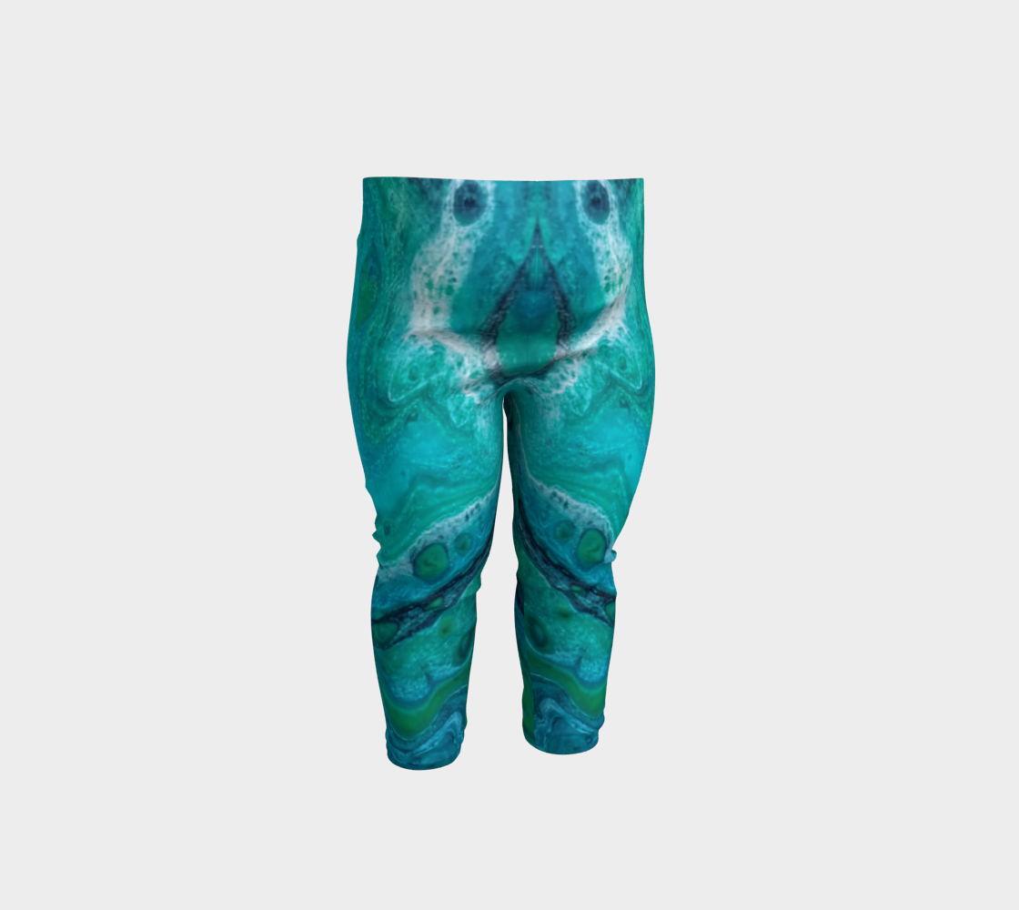 turquoise flow baby leggings preview