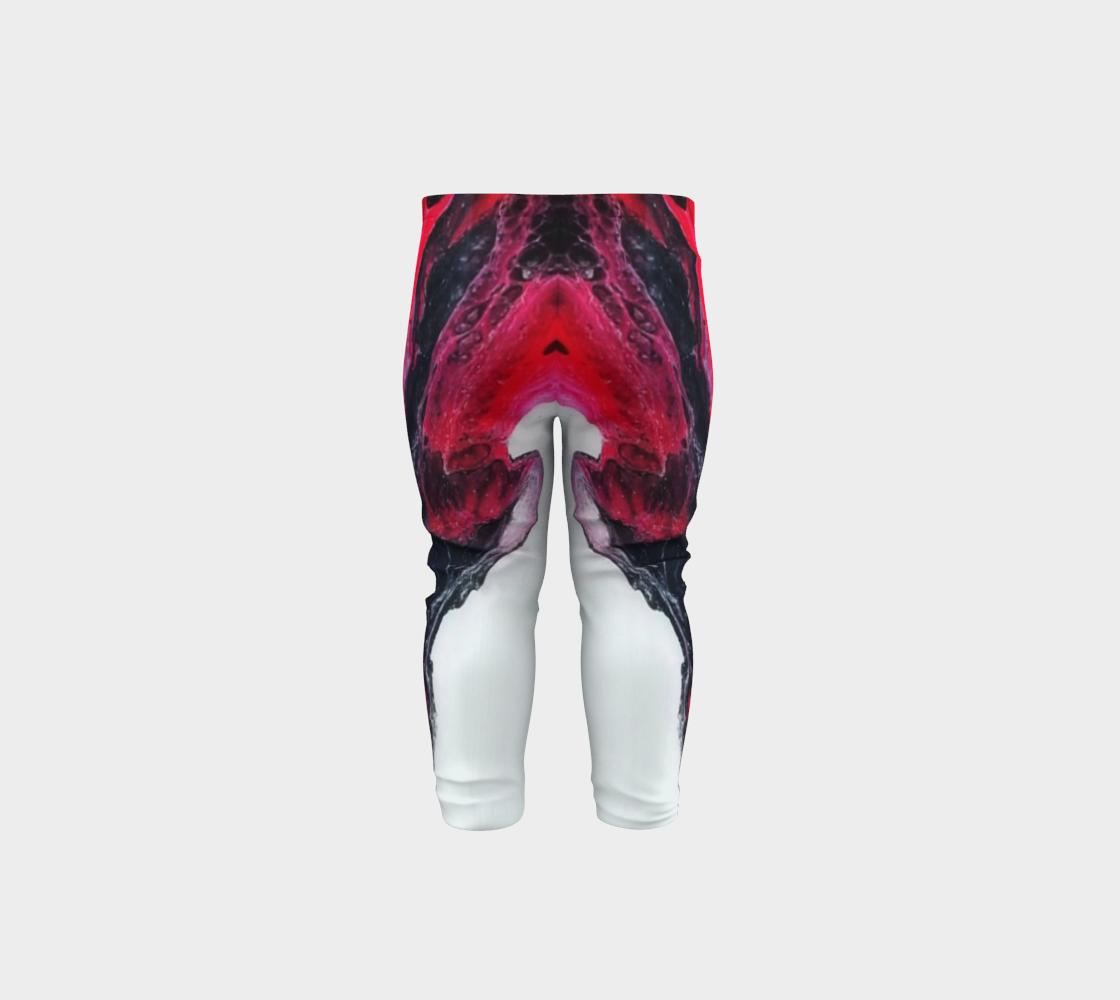 red swoosh baby leggings preview #5