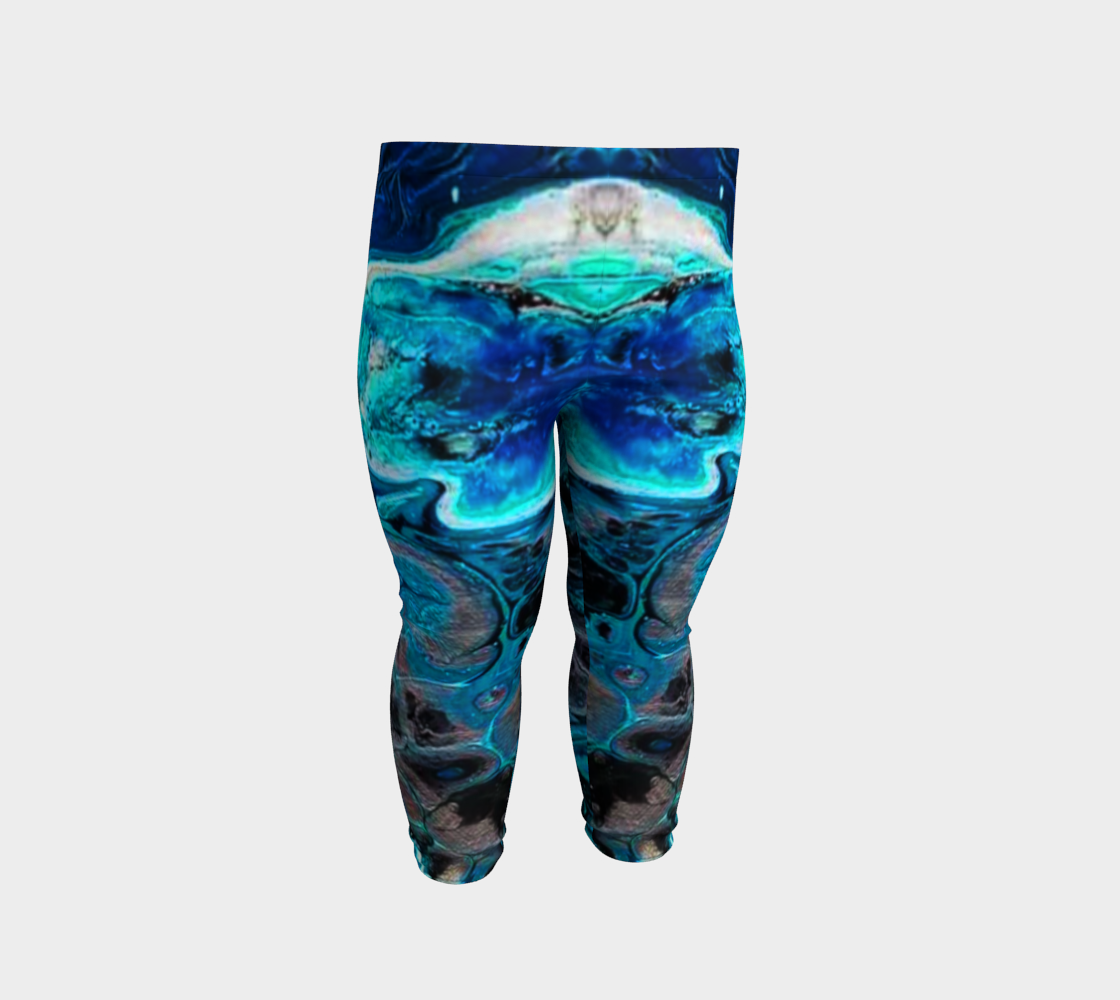 water abstract 1 baby leggings preview #2