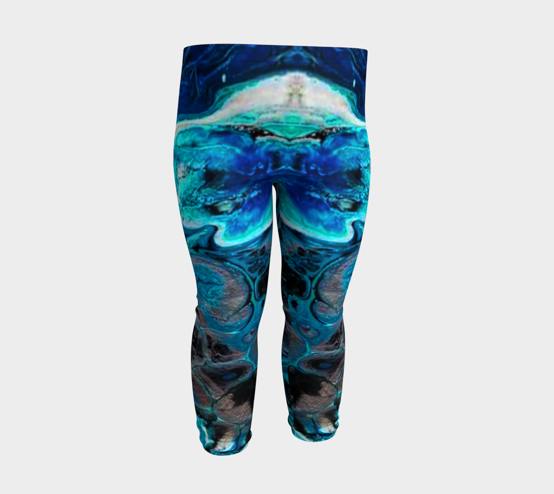 water abstract 1 baby leggings preview #3