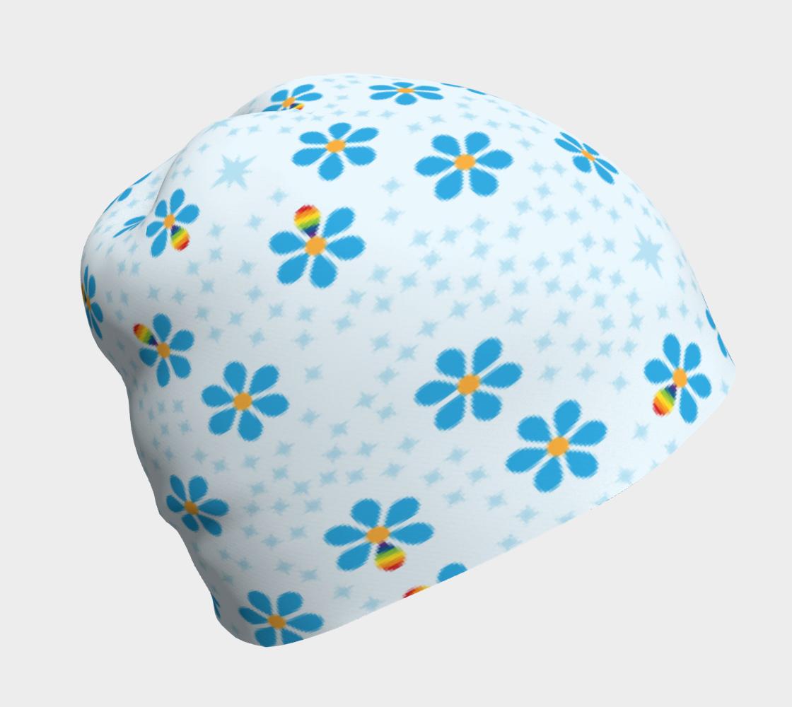 Blue flower & Rainbow petal preview