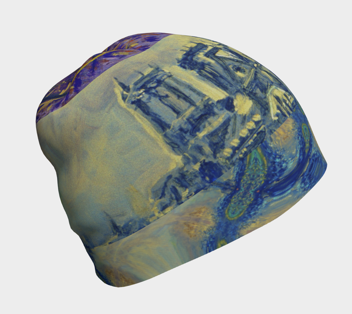 """""""Notre Dame Tribute: 4-15-19 by Lowell S.V. Devin"""" / Commemorative Beanie Helmut preview"""