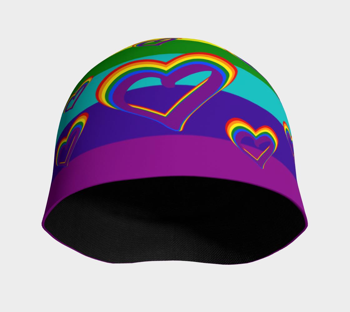 Aperçu de LGBTQ Gay Pride LGBT Rainbow Flag Hearts Funny Colorful Pattern #3